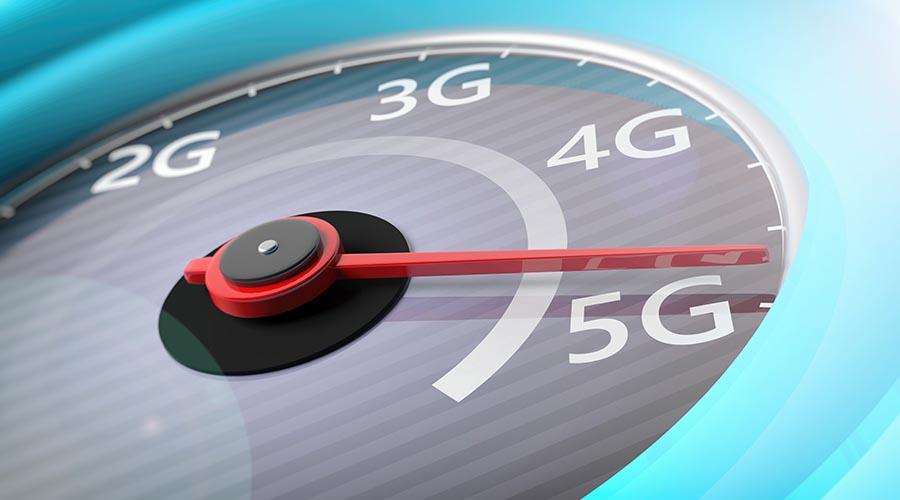 connection speed meter: 2G; 3G; 4G; 5G.